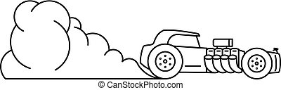 Line art hot rod illustration