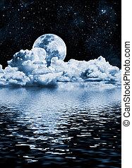 luna, lago
