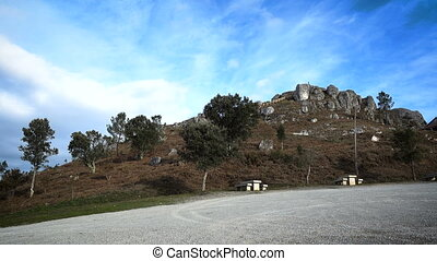 View of the Pico Sacro, in Galicia, Spain - View of the Pico...