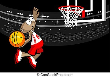Basketball player in the stadium