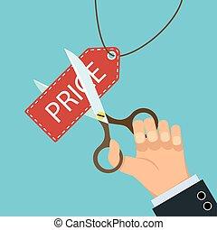 scissors cut the price tag