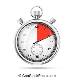 Realistic image of a sports stopwatch. Symbol competition....