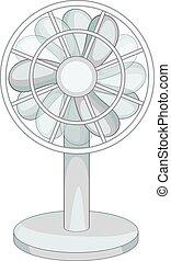 Small ventilator icon monochrome - Small ventilator icon in...