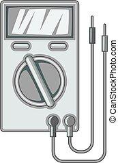 Digital multimeter icon monochrome