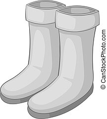 Rubber boots icon monochrome - Rubber boots icon in...