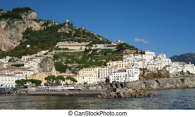 Amalfi, small characteristic village in Southern Italy -...