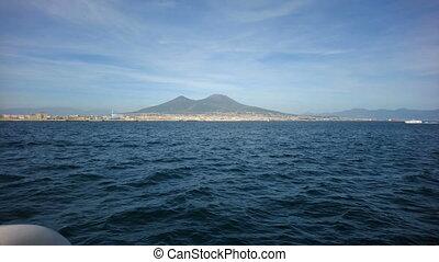Vesuvius volcano seen from the sea - Vesuvius volcano and...