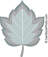 Hawthorn leaf icon monochrome - Hawthorn leaf icon in...