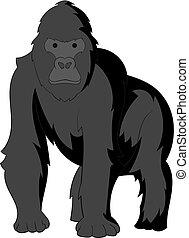 Gorilla icon monochrome