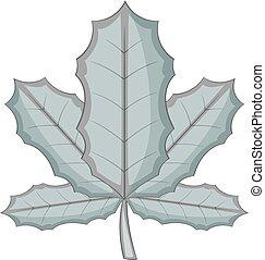 Sycamore icon monochrome - Sycamore leaf icon in monochrome...