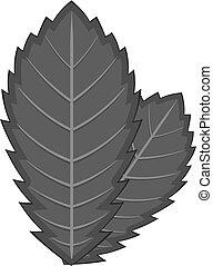Elm leaf icon monochrome - Elm leaf icon in monochrome style...
