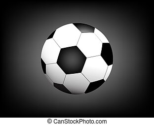 Football / soccer Ball Isolated on Black Background with Space for Your Text.