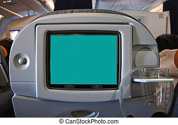 Seat monitor with blank screen in plane