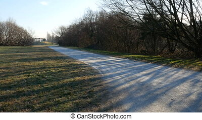 Path in Parco Nord in the north of Milan - Path in Parco...