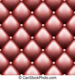 Leather upholstery with buttons. Luxury background.