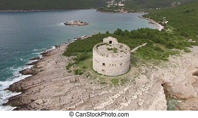 Fort Arza in Montenegro, near the island of Mamula in the...