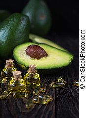Oil of avocado and fish oil - Oil of avocado with fish oil...