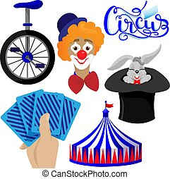 Set of elements for Circus for your design
