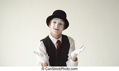 male MIME quarrels on a white background.