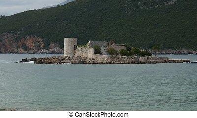 Island Otocic Gospa Near the island of Mamula. On Lustica,...