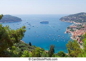 cote dAzur, France - landscape of coast and turquiose sea...