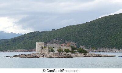 Island Otocic Gospa Near the island of Mamula. On Lustica,...