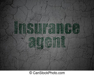 Insurance concept: Insurance Agent on grunge wall background...