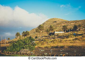 Impressive view from Mirador del Rio, Lanzarote, Canary...