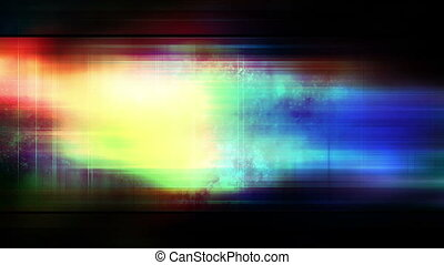 Multicolored strobe streaks bars and particles loop