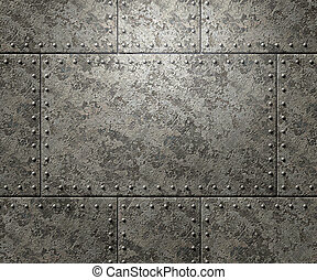 Metal texture with rivets background
