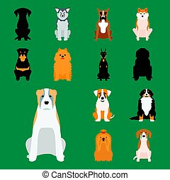 Funny cartoon dog character bread cartoon puppy friendly...