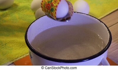Design and preparation of Easter eggs. 4K. - Design and...