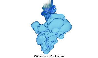 Abstract blue Ink or smoke background with alpha mask. VFX Cloud of Ink for transitions, background, overlay and effects. For alpha channel use alpha matte. 3d render Ver 10