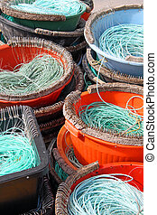 Colourful Fishermen ropes for line fishing
