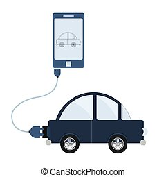 Car automation using cell phone
