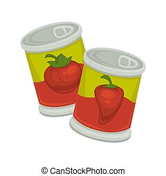 Little iron plastic banks with tomatoes and red pepper...