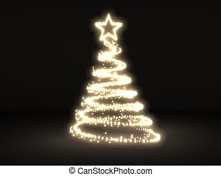 Christmass tree from light