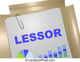 Lessor - business concept - 3D illustration of 'LESSOR'...