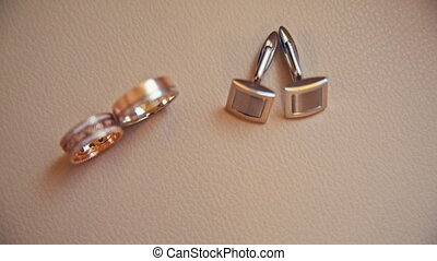 wedding accessories wedding ring and cufflinks