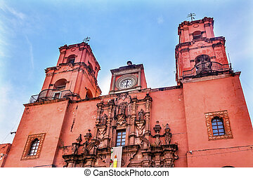 San Francisco Pink Church Templo de San Francisco Guanajuato...