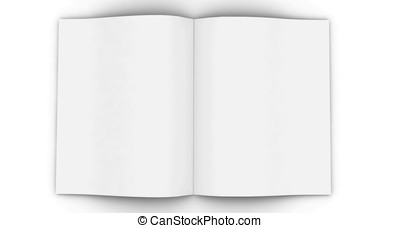 3d blank magazine - 3d blank white magazine isolated on...