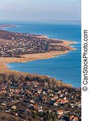 Lake Balaton on Hungary from above