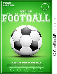 Sporting poster of football