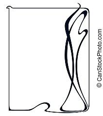 Vector art nouveau frame. - Vector art nouveau vintage frame...