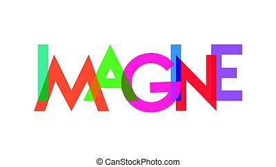 imagine letter colorful transparant background