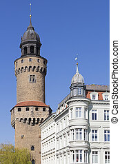 Reichenbacher Turm tower in the historic small town of...