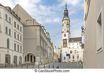 Historic town of Goerlitz with town hall, Germany