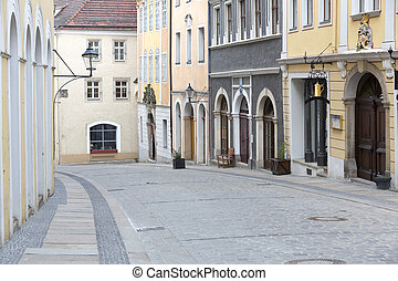 Picturesque street in the old town of Goerlitz, Germany