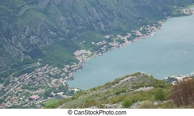 Bay of Kotor from the heights. View from Mount Lovcen to the bay