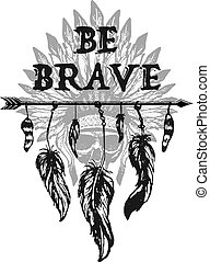 Native american accessory. Vector illustration